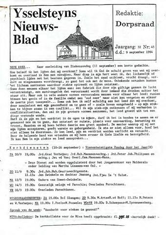Ysselsteyns Nieuwsblad 1994-09-09