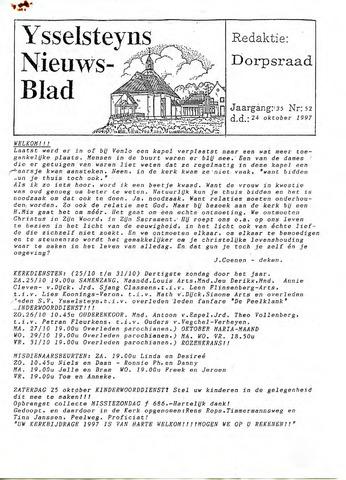 Ysselsteyns Nieuwsblad 1997-10-24