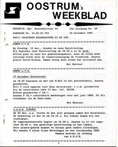 Oostrum's Weekblad 1981-12-10