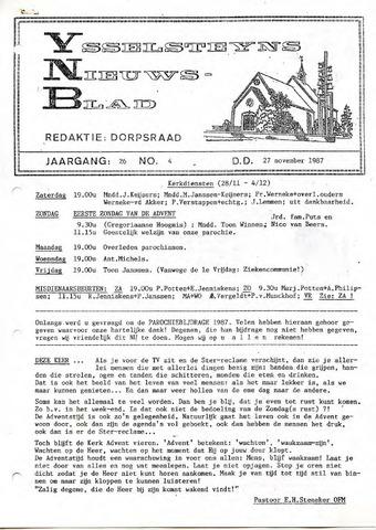 Ysselsteyns Nieuwsblad 1987-11-27