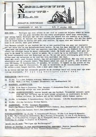 Ysselsteyns Nieuwsblad 1989-10-27