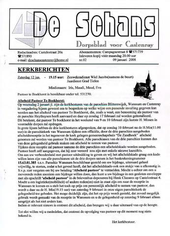 Castenrays dorpsblad De Schans 2008-01-09