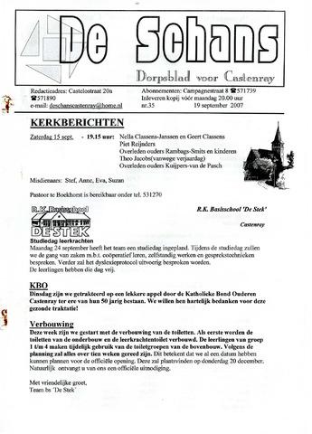 Castenrays dorpsblad De Schans 2007-09-19