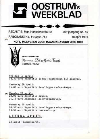 Oostrum's Weekblad 1991-04-18