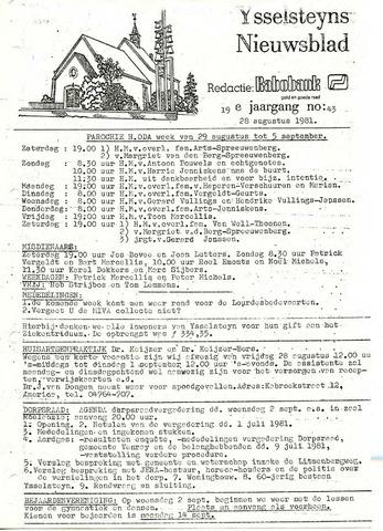 Ysselsteyns Nieuwsblad 1981-08-28