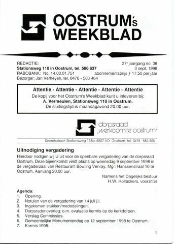 Oostrum's Weekblad 1998-09-03