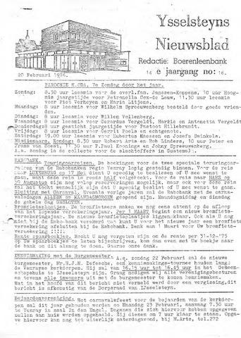 Ysselsteyns Nieuwsblad 1976-02-20