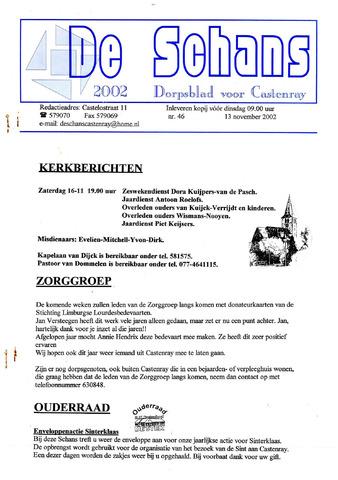 Castenrays dorpsblad De Schans 2002-11-13