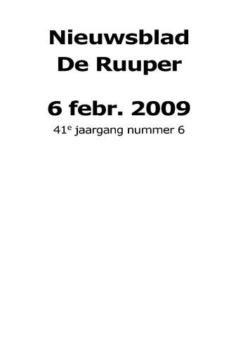 Dorpsblad Leunen-Veulen-Heide 2009-02-06