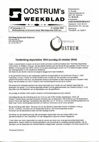 Oostrum's Weekblad 2004-10-21