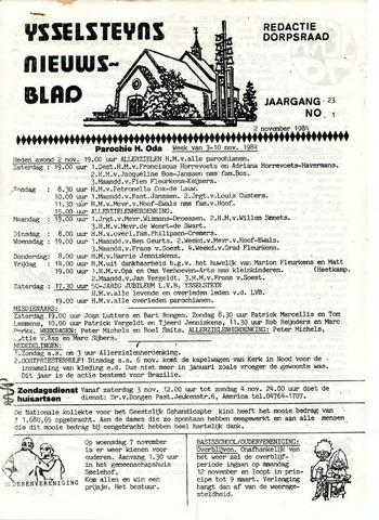 Ysselsteyns Nieuwsblad 1984-11-02