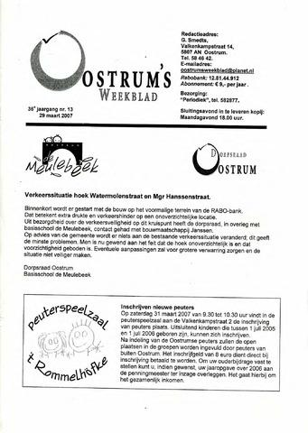 Oostrum's Weekblad 2007-03-29