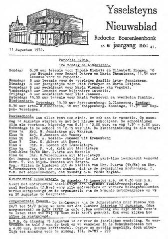 Ysselsteyns Nieuwsblad 1972-08-11