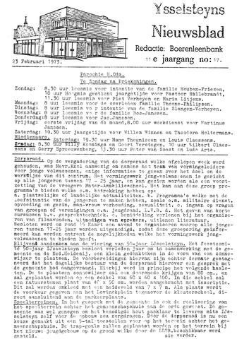 Ysselsteyns Nieuwsblad 1973-02-23