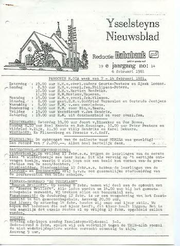 Ysselsteyns Nieuwsblad 1981-02-06