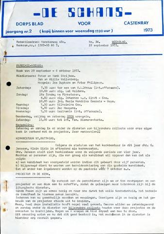 Castenrays dorpsblad De Schans 1973-09-28