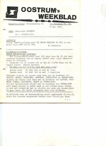 Oostrum's Weekblad 1974-05-17