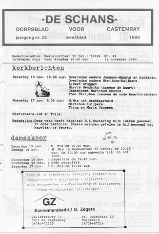 Castenrays dorpsblad De Schans 1993-11-12