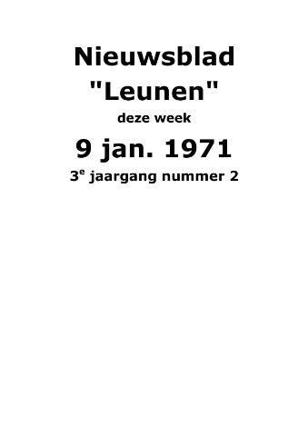 Dorpsblad Leunen-Veulen-Heide 1971-01-09