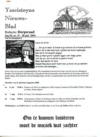 Ysselsteyns Nieuwsblad 2004-07-30