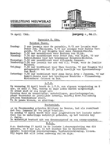 Ysselsteyns Nieuwsblad 1966-04-14