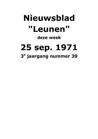 Dorpsblad Leunen-Veulen-Heide 1971-09-25