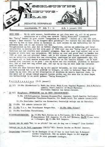 Ysselsteyns Nieuwsblad 1991-01-04