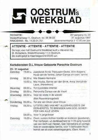 Oostrum's Weekblad 1997-08-21