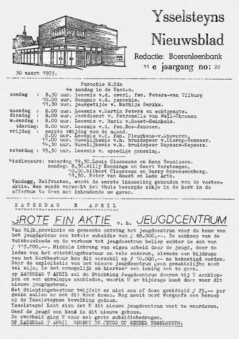 Ysselsteyns Nieuwsblad 1973-03-30