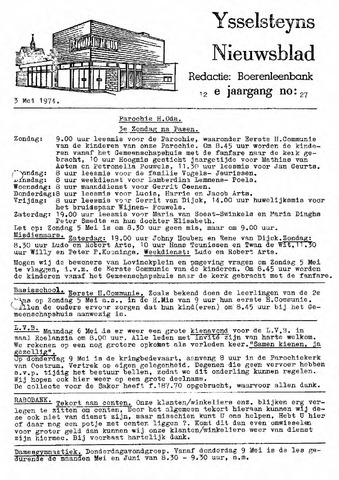 Ysselsteyns Nieuwsblad 1974-05-03