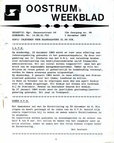 Oostrum's Weekblad 1983-12-01