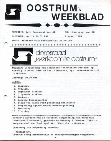 Oostrum's Weekblad 1984-03-08