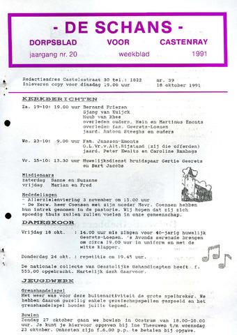 Castenrays dorpsblad De Schans 1991-10-18