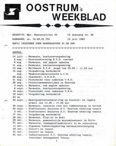 Oostrum's Weekblad 1983-07-14
