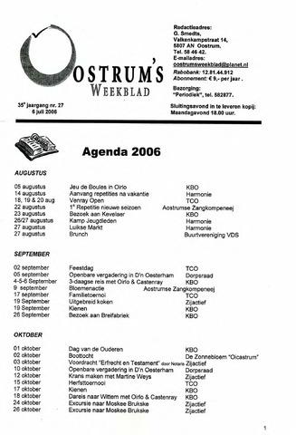 Oostrum's Weekblad 2006-07-06