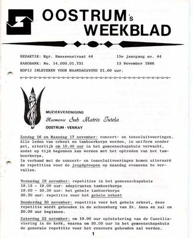 Oostrum's Weekblad 1986-11-13