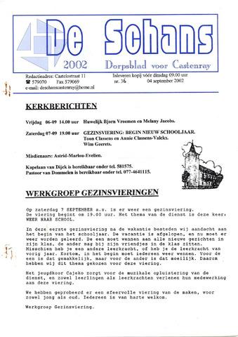 Castenrays dorpsblad De Schans 2002-09-04