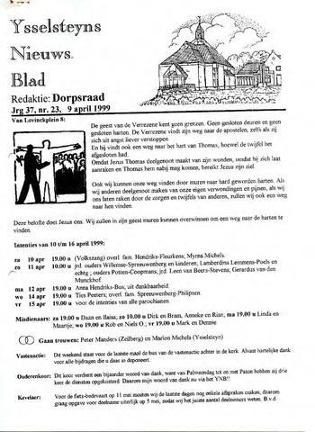 Ysselsteyns Nieuwsblad 1999-04-09