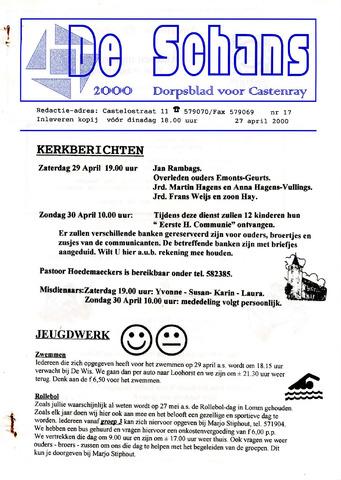 Castenrays dorpsblad De Schans 2000-04-27