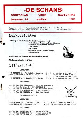 Castenrays dorpsblad De Schans 1995-01-27