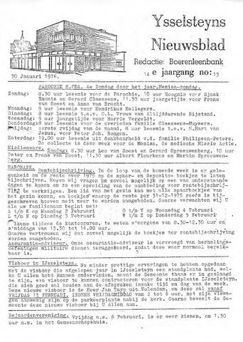 Ysselsteyns Nieuwsblad 1976-01-30