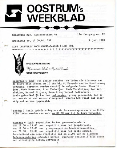Oostrum's Weekblad 1988-06-02