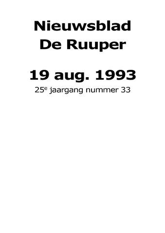Dorpsblad Leunen-Veulen-Heide 1993-08-19