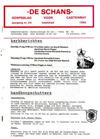 Castenrays dorpsblad De Schans 1995-08-18