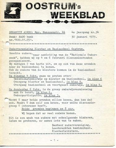 Oostrum's Weekblad 1975-01-30