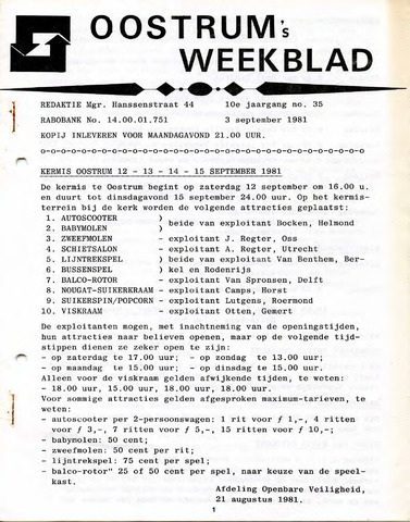 Oostrum's Weekblad 1981-09-03