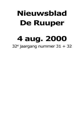 Dorpsblad Leunen-Veulen-Heide 2000-08-04