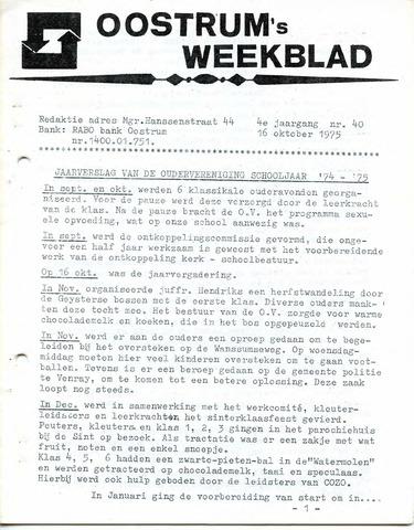 Oostrum's Weekblad 1975-10-16