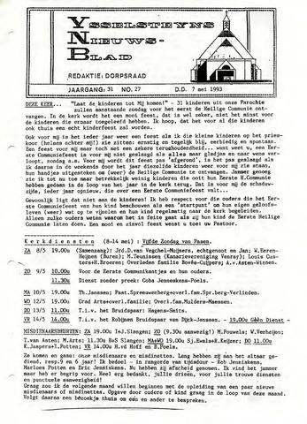 Ysselsteyns Nieuwsblad 1993-05-07