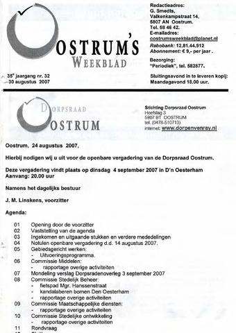 Oostrum's Weekblad 2007-08-30